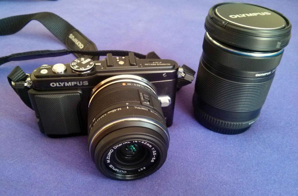 Olympus PEN E-PL5 + objektivy 14-42mm II R black + 40-150mm R black