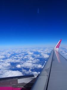 během letu
